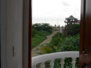 Blick aus der Wohnung
